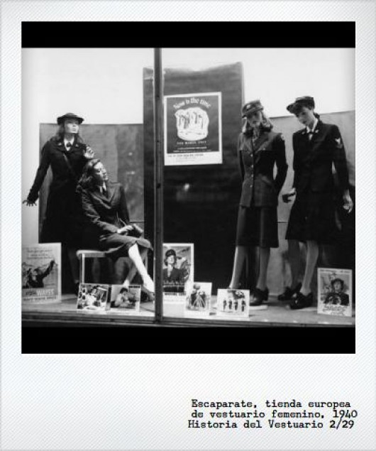 1940: Vestuario y guerra