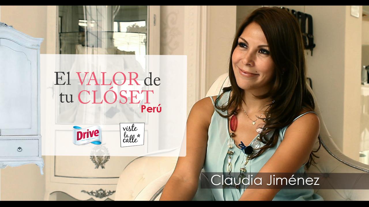 El Valor de Tu Clóset Perú: Claudia Jiménez