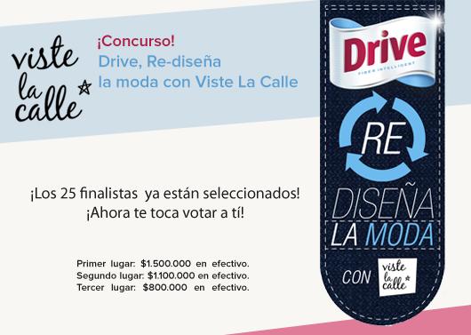 """A sólo 2 días del cierre de las votaciones en """"Drive Re Diseña la Moda"""""""