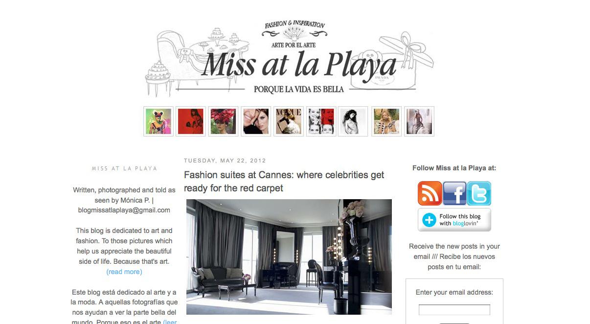 """Entrevista a Mónica Parga, creadora del blog español """"Miss at la Playa"""""""