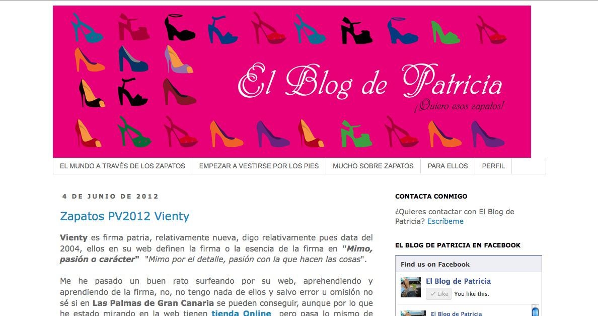 """Entrevista a Patricia Jorge, creadora del blog español """"El blog de Patricia"""""""