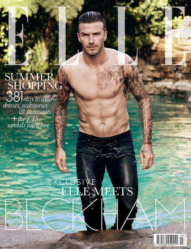 David Beckham y la primera portada masculina de Elle
