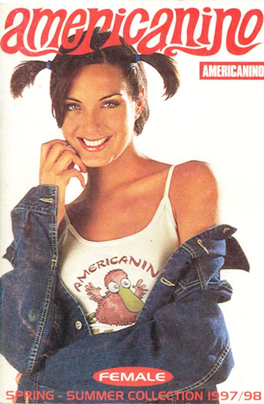 Flashback: Carolina Ruiz y el catálogo Americanino 1997