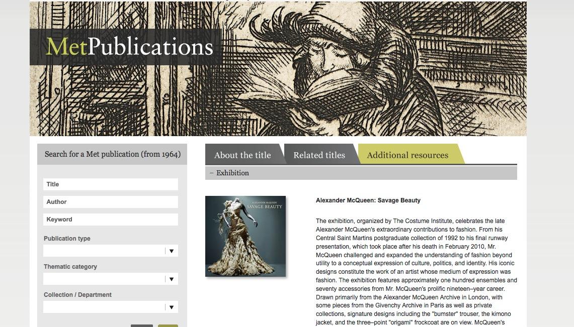 MetPublications, la nueva biblioteca virtual del MET
