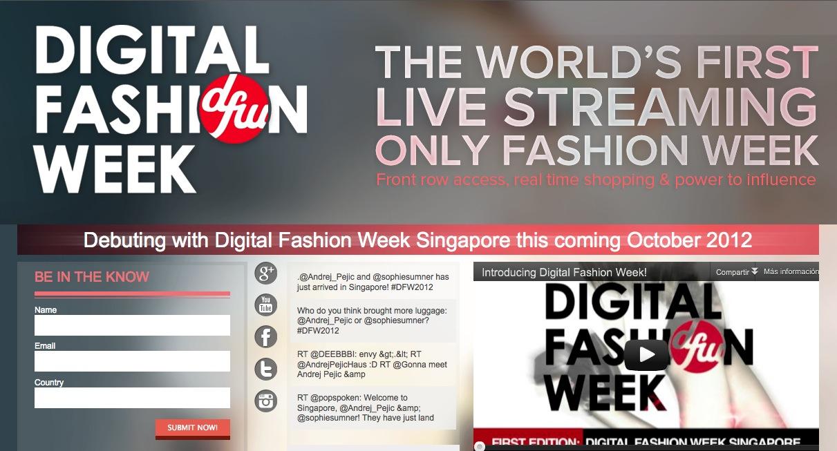 Digital Fashion Week Singapur, la primera semana de la moda online