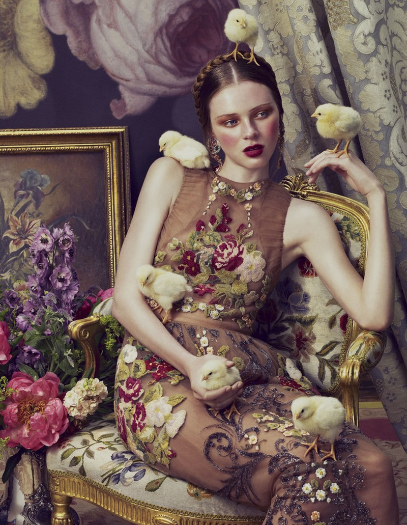 Nina Porter y otras modelos por Andrew Yee para How to Spend It magazine