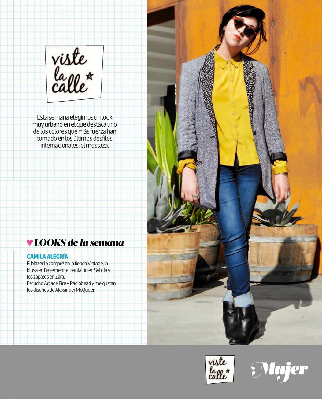 El look de Viste la Calle en Revista Mujer
