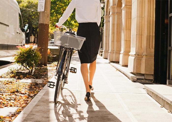 ¿Se puede ir al trabajo en bicicleta?