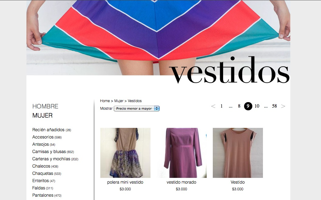 Feriaferió, un espacio virtual chileno para tiendas de ropa usada