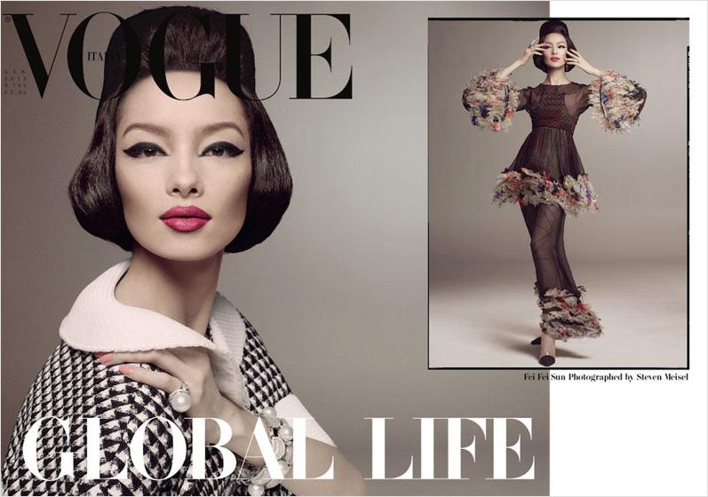 Fei Fei Sun, la primera modelo china en la portada de Vogue Italia