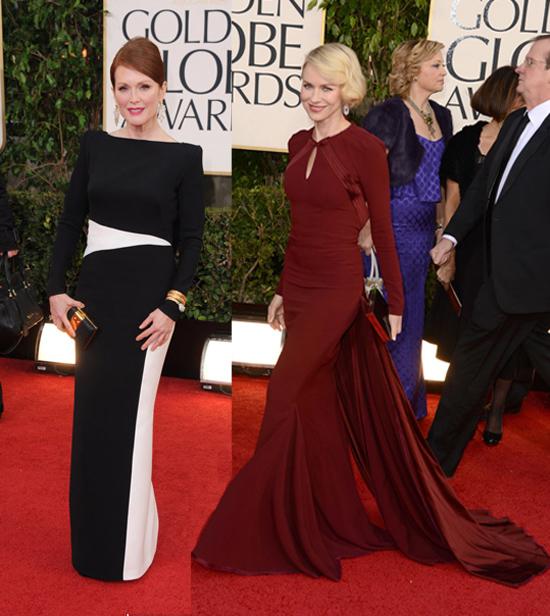 Los vestidos de los Golden Globe 2013