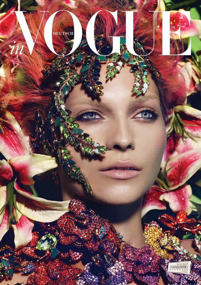 Karolin Wolter por Lado Alexi para el horóscopo 2013 de Vogue Germany