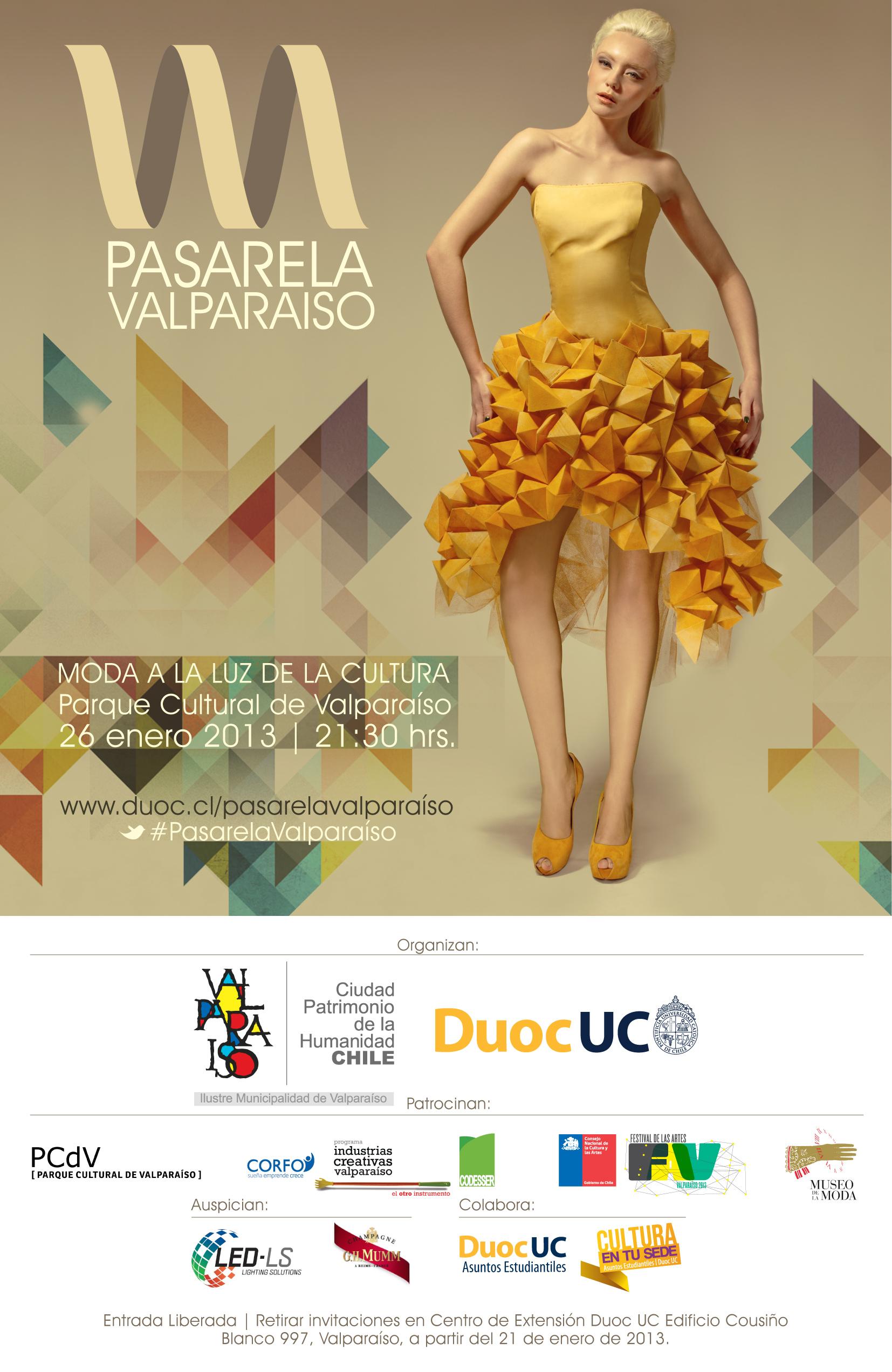 """Pasarela Valparaíso: """"moda a la luz de la cultura"""""""