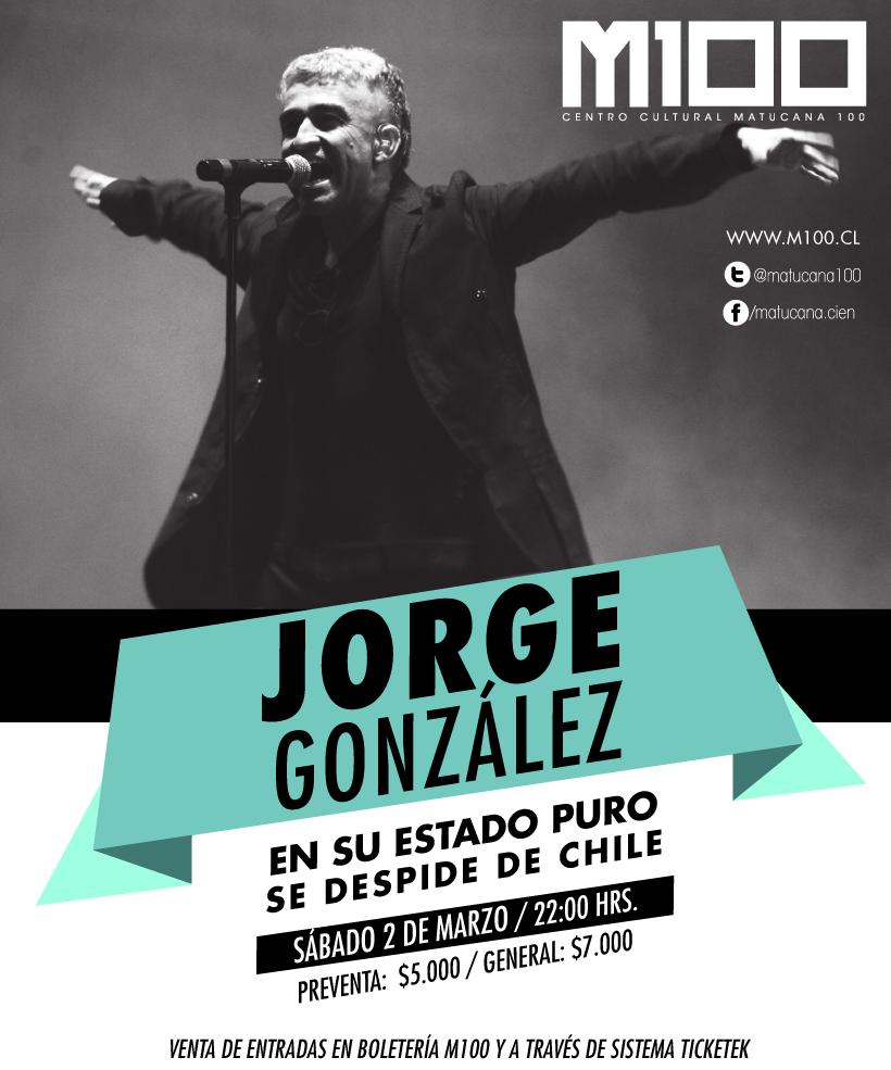 ¡Gana entradas para el concierto de despedida de Jorge González!