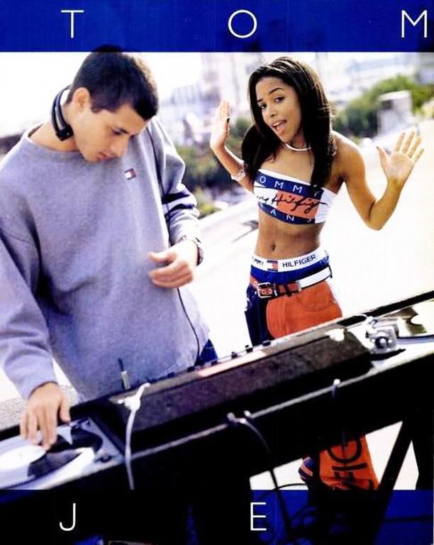 Flashback: Aaliyah y otros famosos para Tommy Hilfiger, 1997-1999