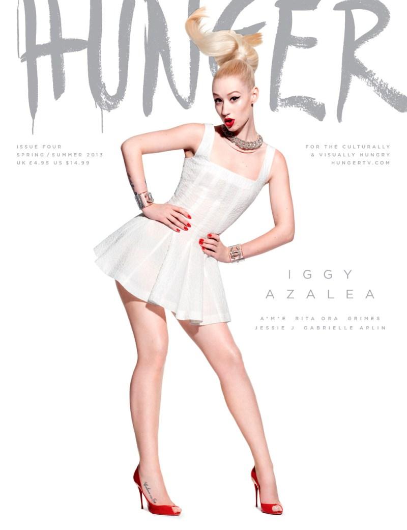 Las portadas de cantantes en la revista Hunger de abril