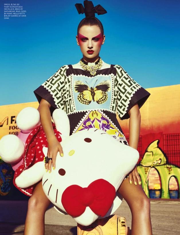 Karina Gubanova por Gabor Jurina para Fashion Magazine, mayo 2013