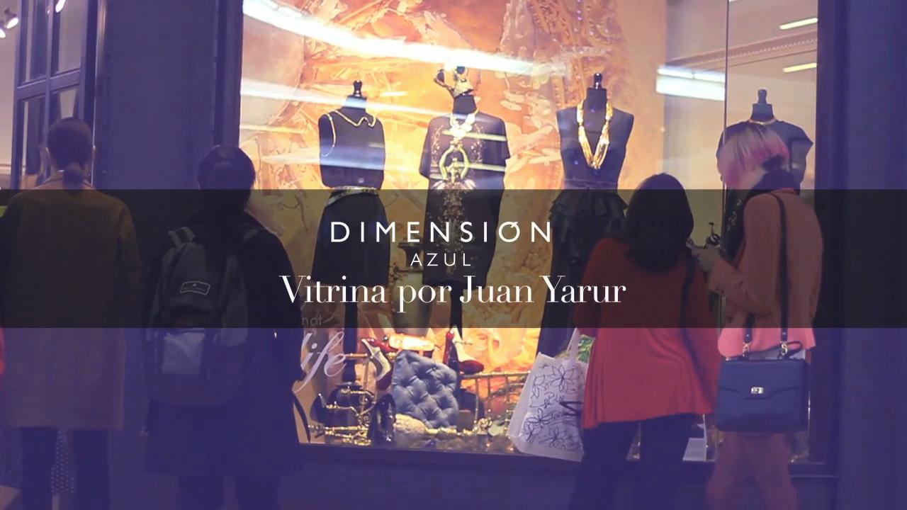 La vitrina realizada por Juan Yarur en Dimensión Azul