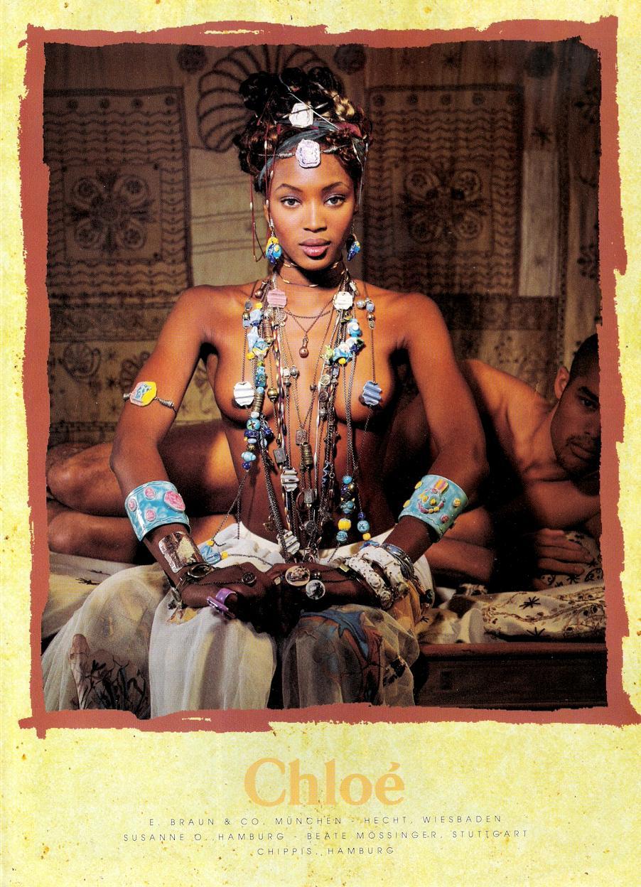 Flashback: Naomi Campbell por Karl Lagerfeld para Chloé, 1994