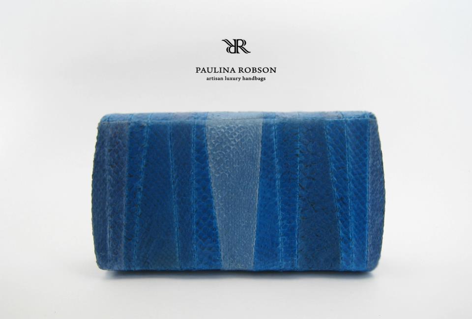 Las carteras de cuero de salmón de Paulina Robson