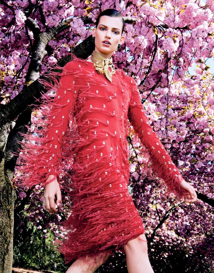 Bette Franke por Sharif Hanza, Vogue Japan 2013