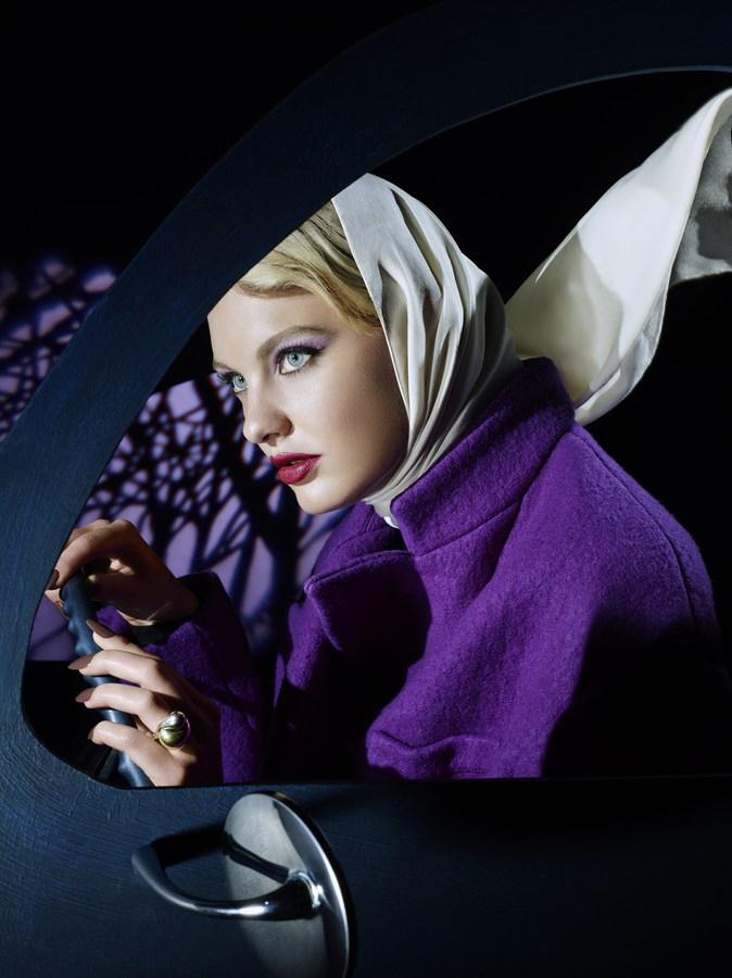 Beauty estilo Hitchcock en Vogue Japan, 2013