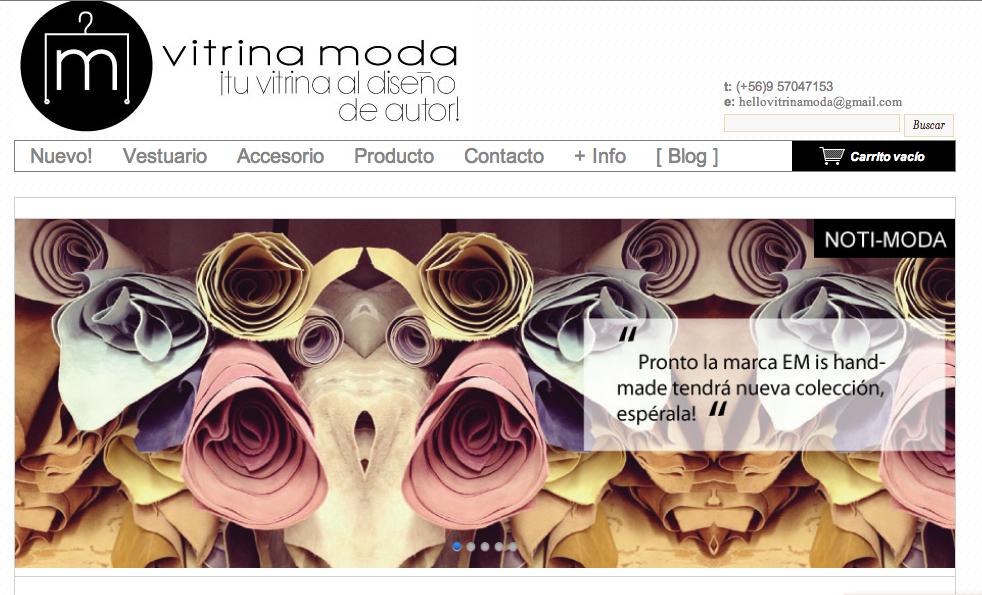 Vitrina Moda, diseño de autor al alcance de un click