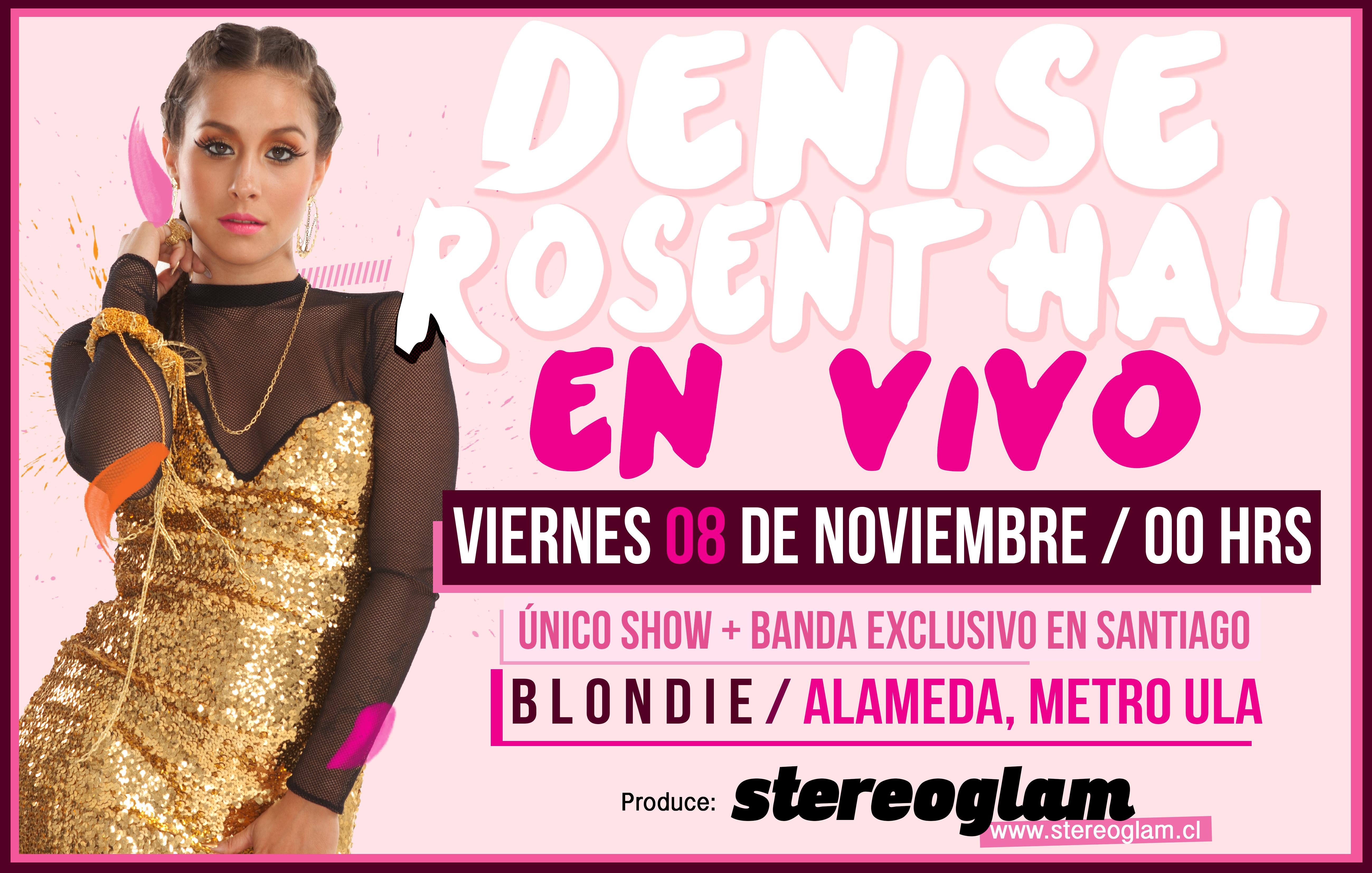 Concurso: gana entradas para ver a Denise Rosenthal en vivo en Blondie