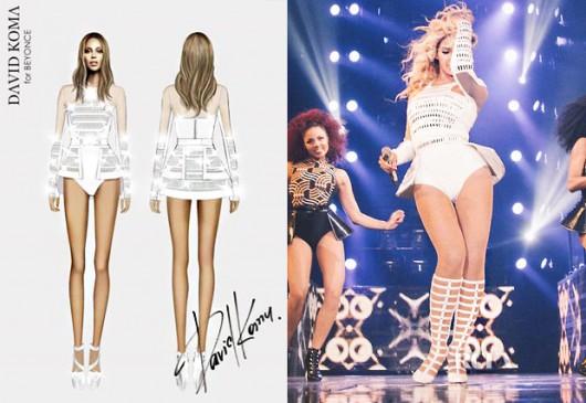David Koma, el diseñador que vuelve a suprimir las caderas de Beyonce