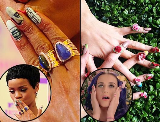 Katy Perry y Rihanna: las reinas del Nail Art del 2013
