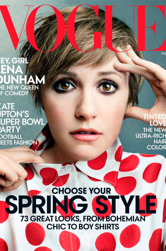 Lena Dunham de la serie Girls para Vogue USA