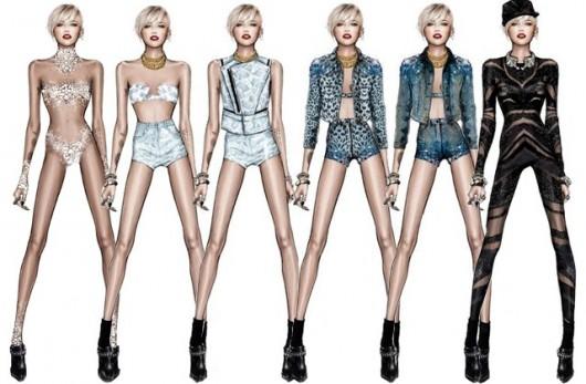 Roberto Cavalli revela sus diseños para el próximo Tour de Miley Cyrus