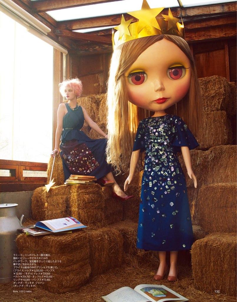 Muñecas Blythe & Bottega Veneta en una editorial