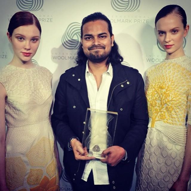 Rahul Mishra, el ganador del Woolmark Prize Award 2014