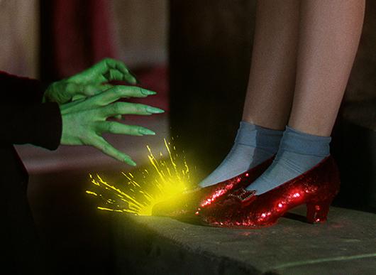 Los icónicos zapatos de rubí de El Mago de Oz