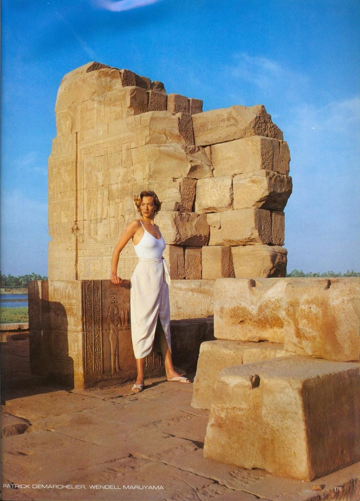 Egipto a través del lente de Patrick Demarchelier, 1993