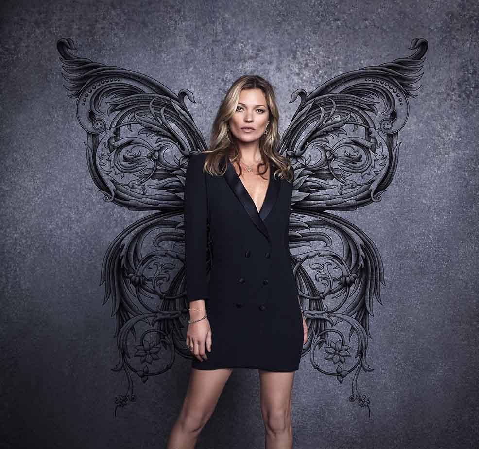 """Fly Collection"": La campaña de Basement que trae nuevamente a Kate Moss a Chile"
