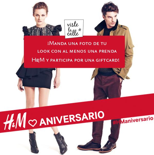 Concurso Aniversario: ¡Gana una giftcard H&M en VisteLaCalle!