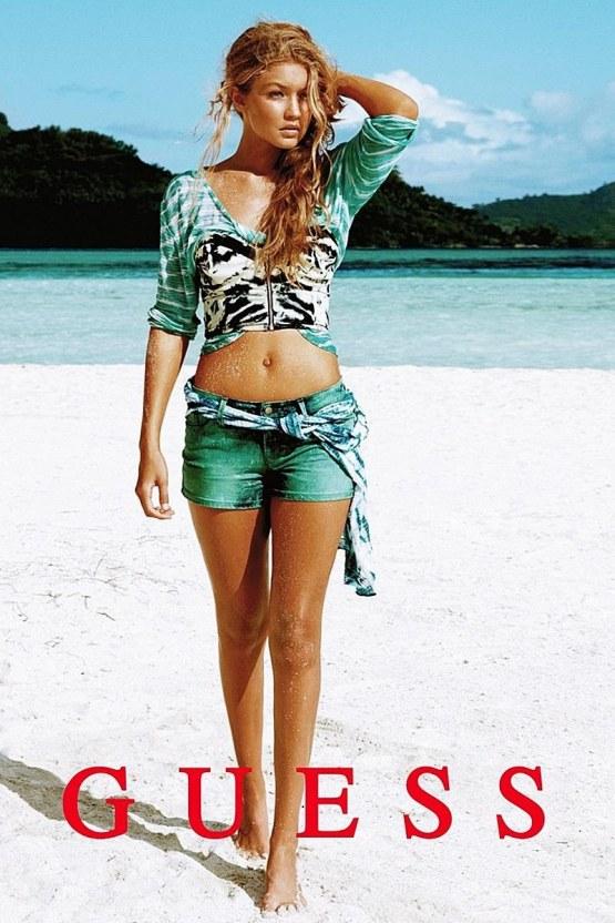 Gigi Hadid, modelo de Guess desde niña