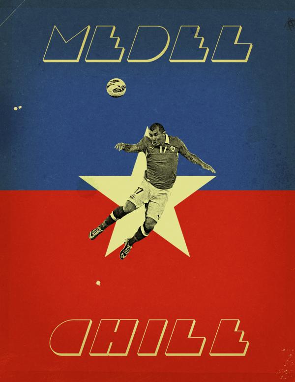 """Ilustraciones mundialeras: Los afiches de Jon Rogers y su proyecto """"World Cup 2014: Each Country's Fan Favorite"""""""