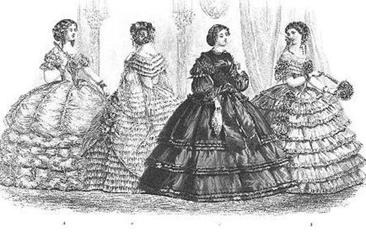 La importancia del verdugado y la crinolina en el vestido femenino