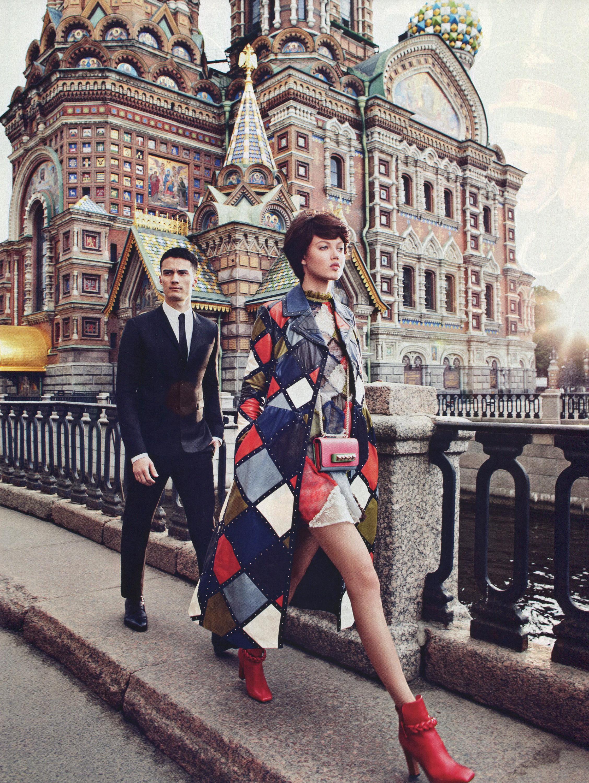 Lindsey Wixson en Rusia para Vogue, 2014