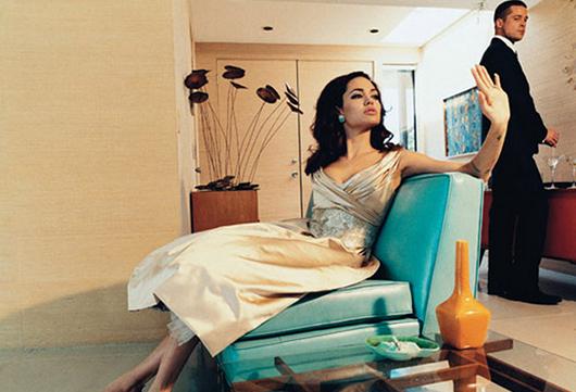 Felicidad doméstica: Brad Pitt y Angelina Jolie para Steven Klein, julio 2005