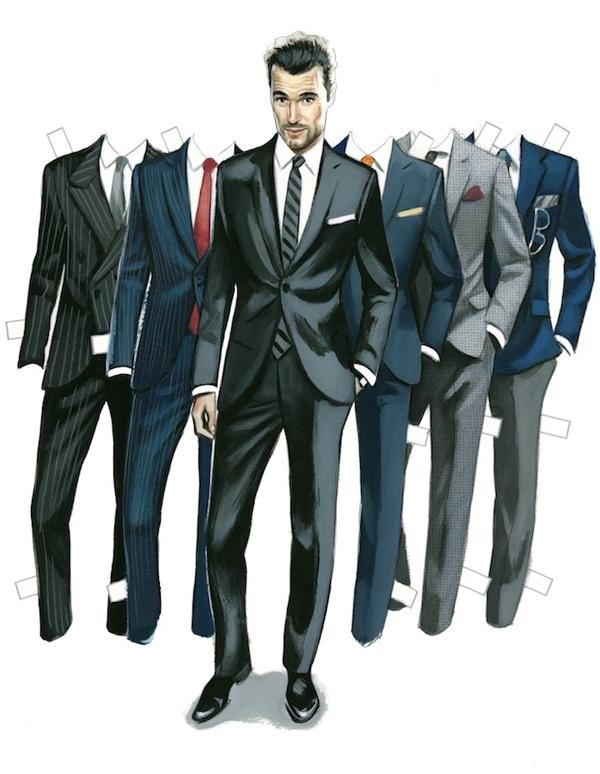 Figuritas de papel para vestir en las ilustraciones de Fernando Vicente