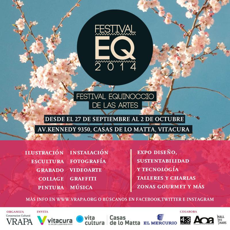A partir de este fin de semana, ¡VisteLaCalle estará en el Festival Equinoccio de las artes en Casas de Lo Matta!