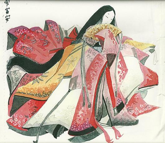 Junihitoe: Vestuario femenino de la corte japonesa