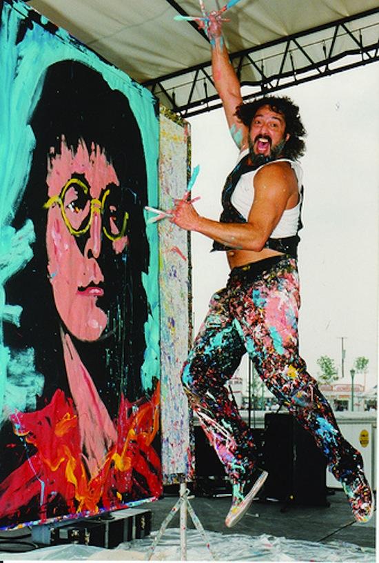 Denny Dent, el único pintor del rock and roll