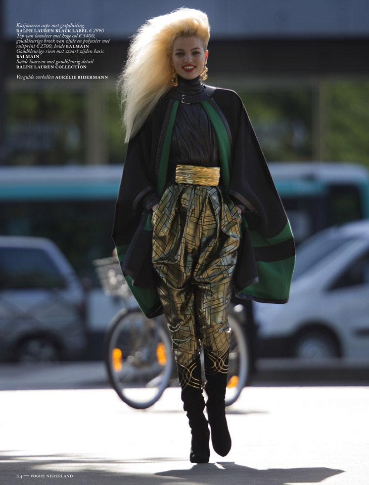 Daphne Groeneveld en editorial inspirada en los años '80 de Vogue Netherlands