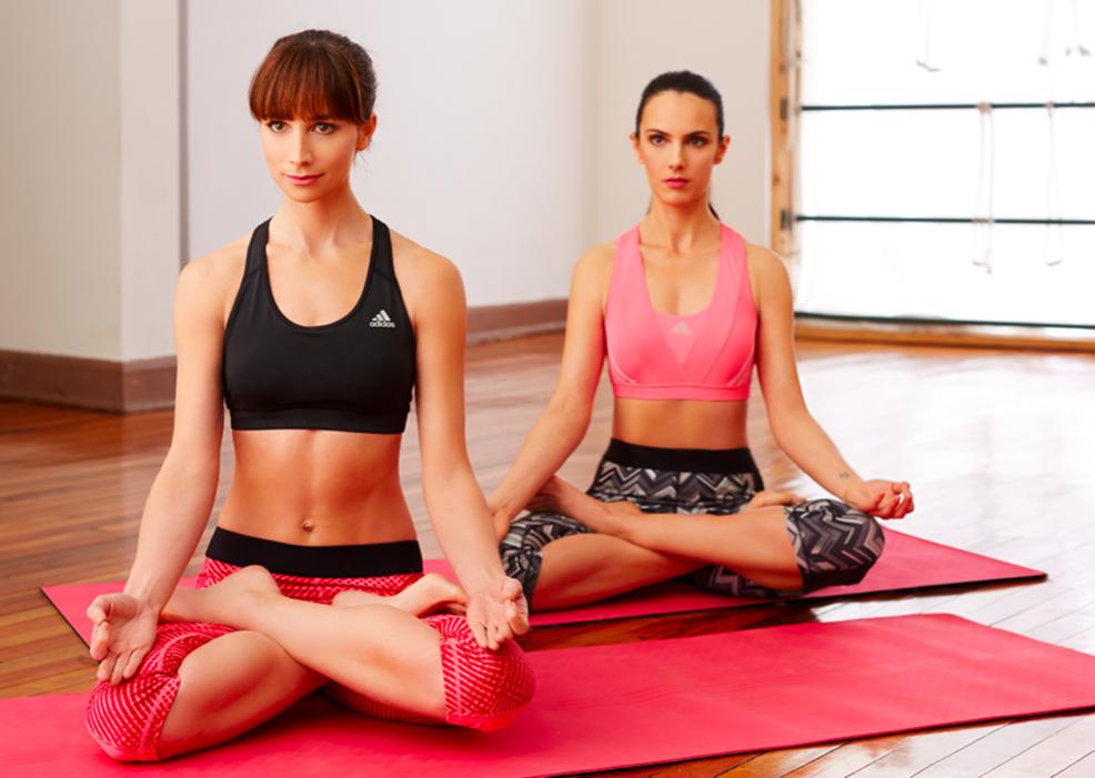 Asegura tu cupo para la próxima clase Yoga-Pilates de la campaña all in for #mygirls de Adidas