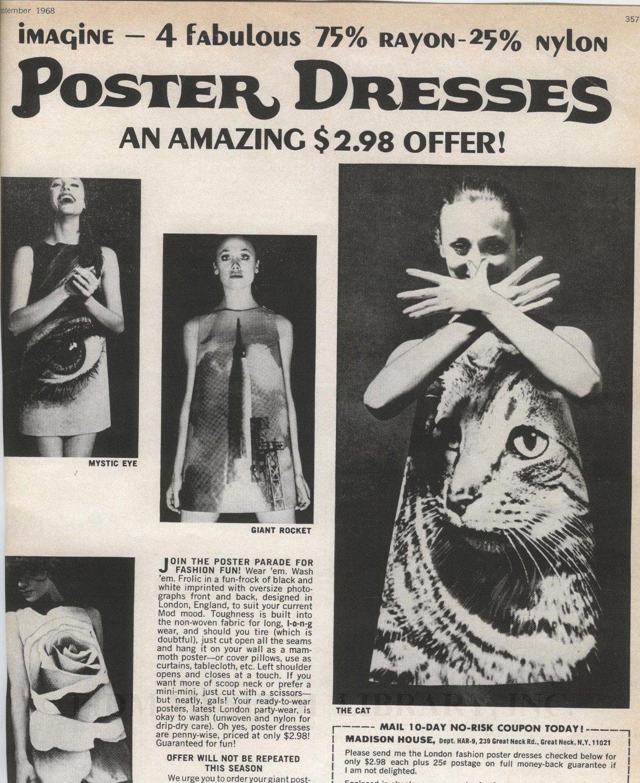 La locura por los vestidos de papel en los '60